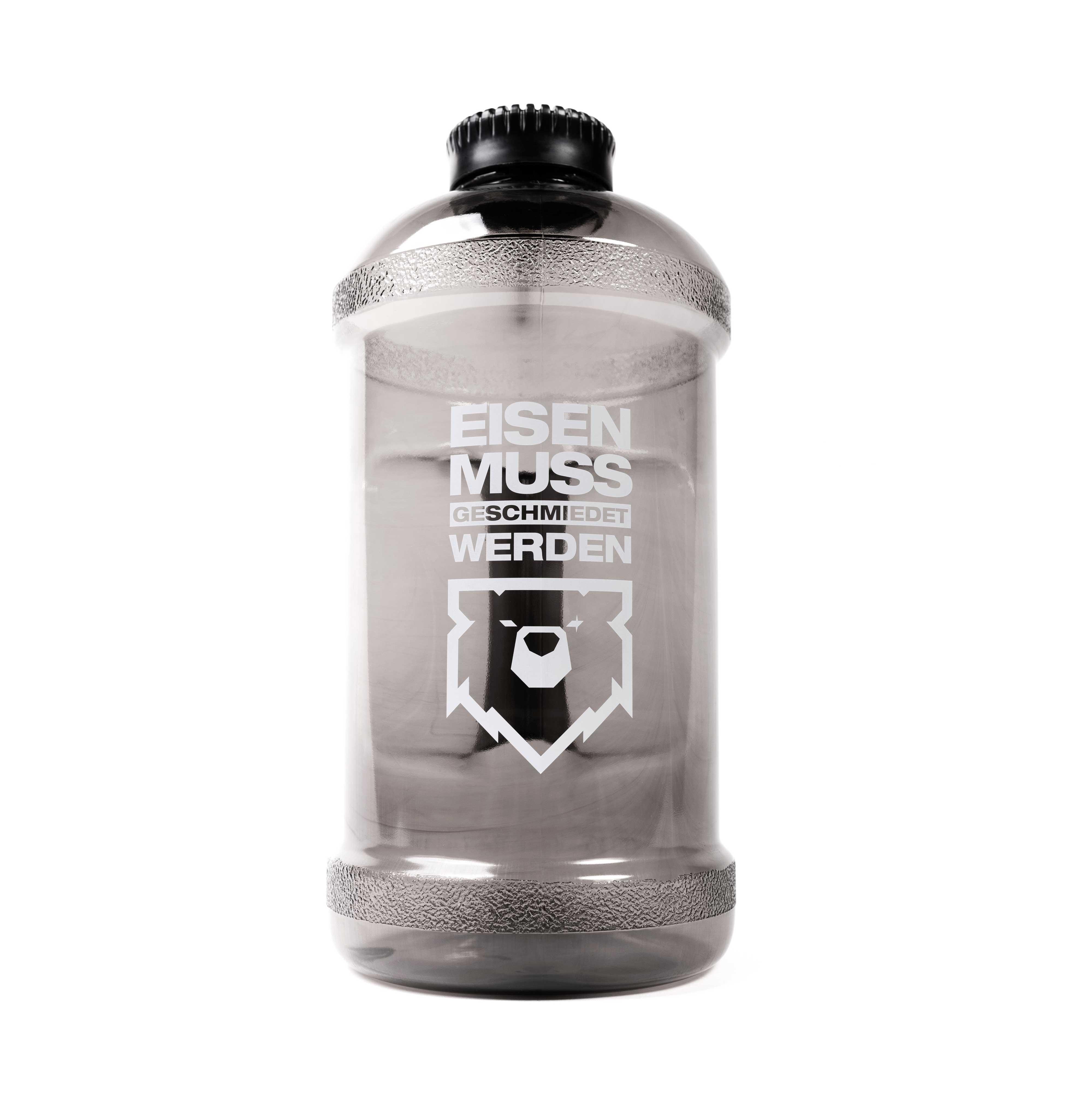 Eisenbär Wasserflasche  Schwarz Transparent