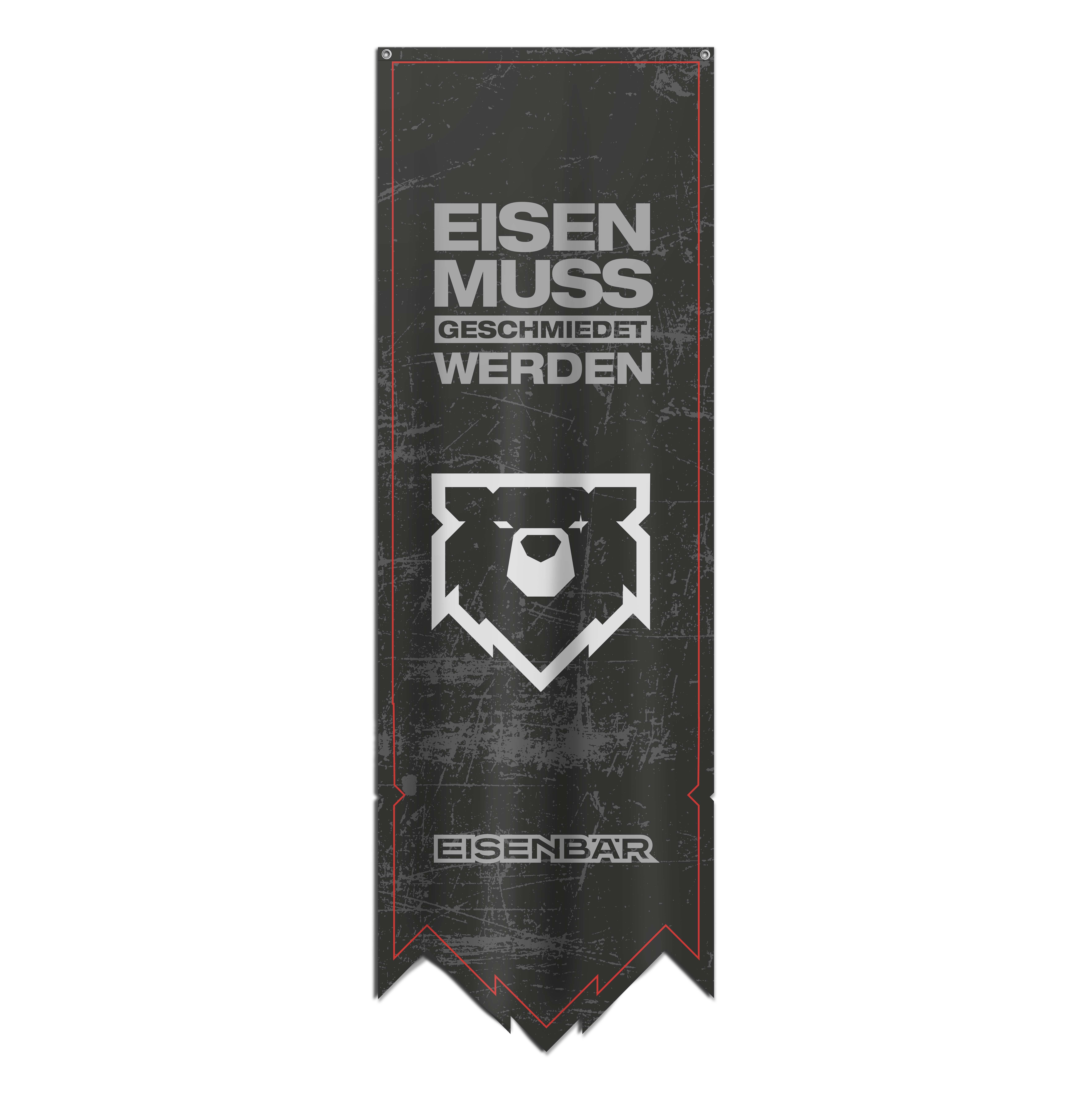 """EISENBÄR Wimpel Banner """"Eisen Muss Geschmiedet Werden"""" 60x180 cm"""